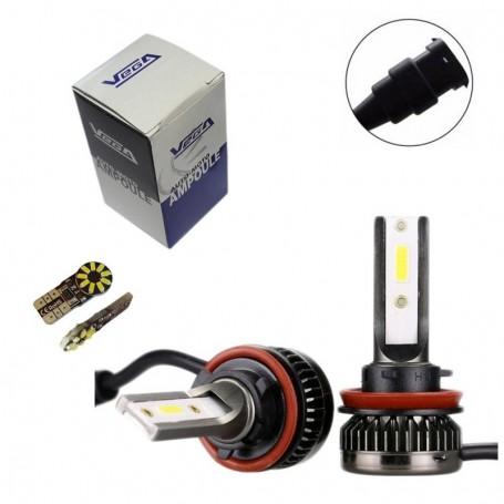 Kit Q3 Full leds COB 360° Vega® 1 ampoule H8 12V 24V