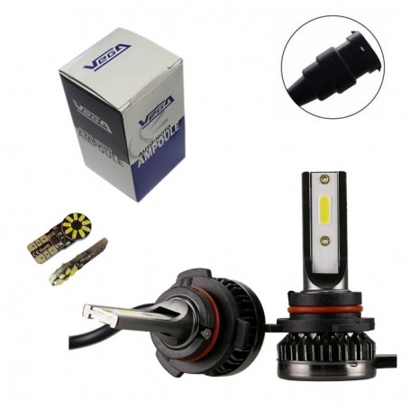 Kit Q3 Full leds COB 360° Vega® 1 ampoule HB3 12V 24V