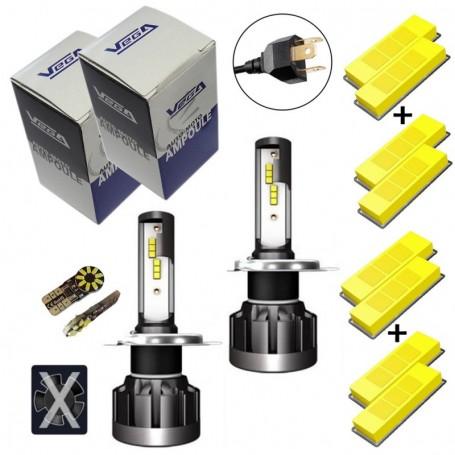 Kit Q6 Full leds CSP Vega® 2 ampoules H4 12V 24V