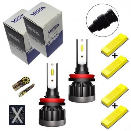 Kit Q6 Full leds CSP Vega® 2 ampoules H8 12V 24V