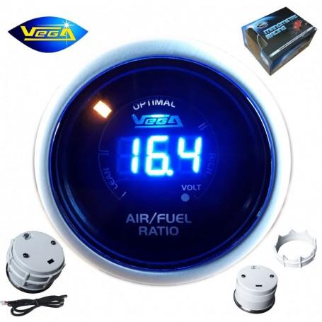 Manomètre Vega® richesse Air/Essence AFR numérique et leds 52 mm