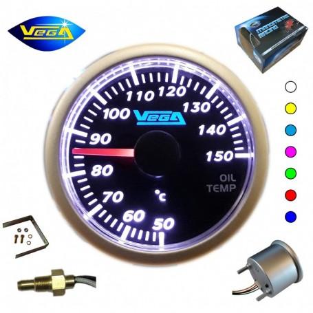 Manomètre Vega® température d'huile 50-150 °C affichage 7 couleurs changement tactile 52 mm