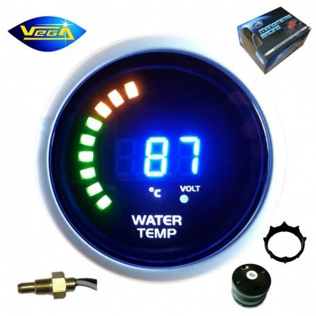 Manomètre Vega® température d'eau 20-150 °C affichage numérique et leds 52 mm