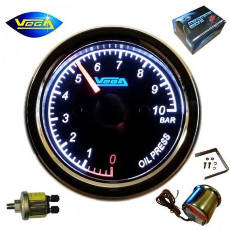 Manomètre Vega® Pression d'huile 0-10 bars spécial moto étanche