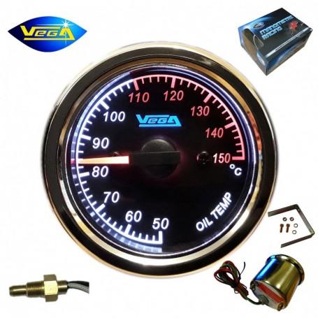 Manomètre Vega® Température d'huile 50-150°C spécial moto étanche