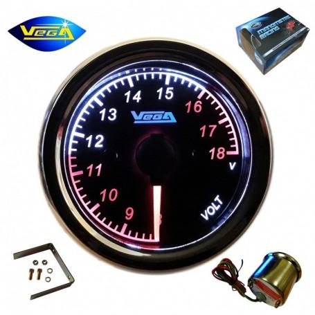 Manomètre Vega® Voltmètre 8-18V spécial moto étanche