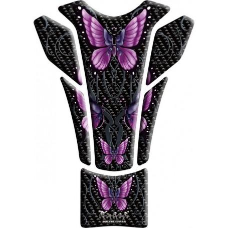 Protège réservoir moto 3D Keiti® Papillons violets KT8540
