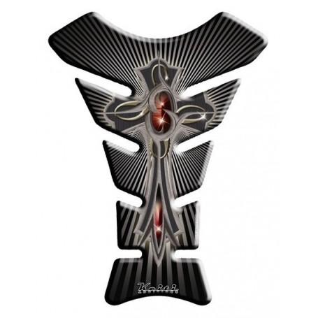 Protège réservoir moto 3D Keiti® Croix KT8230