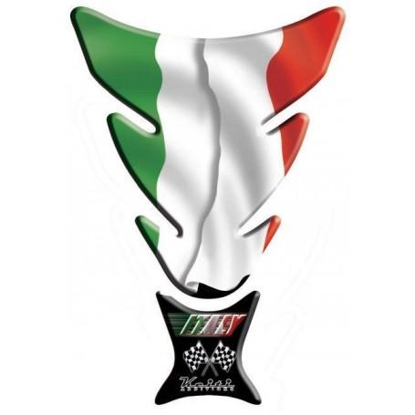 Protège réservoir moto 3D Keiti® drapeau Italie KT008