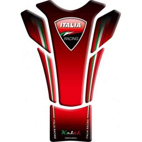 Protège réservoir moto 3D Keiti® Italian rouge TDC-104R
