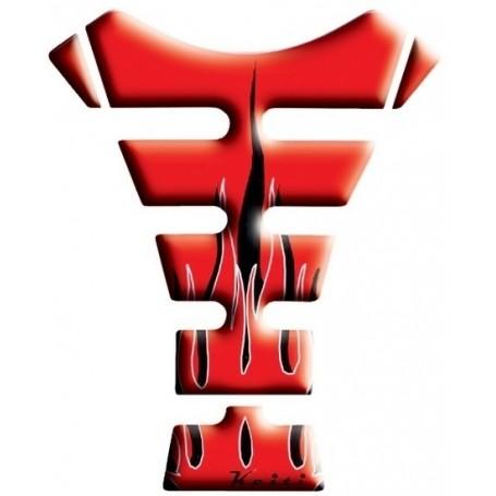 Protège réservoir moto 3D Keiti® Flamme rouge KT1310