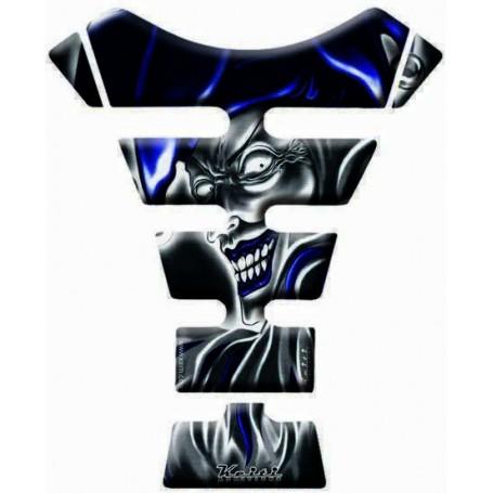 Protège réservoir moto 3D Keiti® Joker Bleu KT6500B