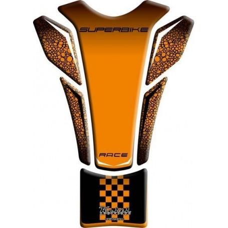 Protège réservoir moto 3D Keiti® Superbike orange TKT-101O