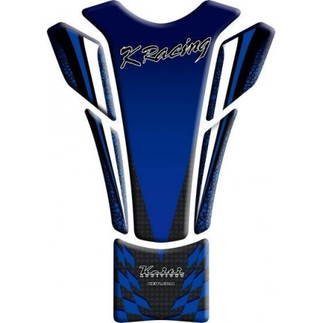 Protège réservoir moto 3D Keiti® Kawasaki Racing Bleu TKW-507B