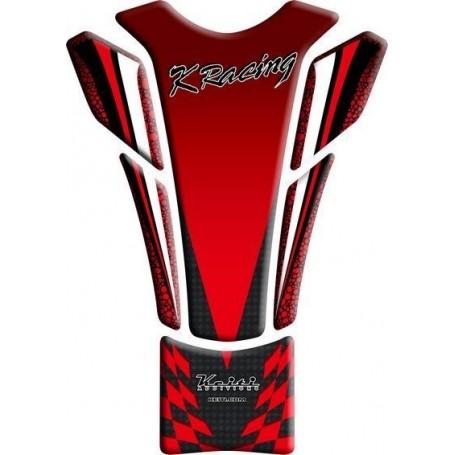 Protège réservoir moto 3D Keiti® Kawasaki Racing Rouge TKW-507R