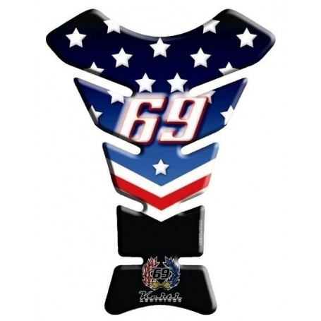 Protège réservoir moto 3D Keiti® Nicky Hayden Numero 69 KT8190