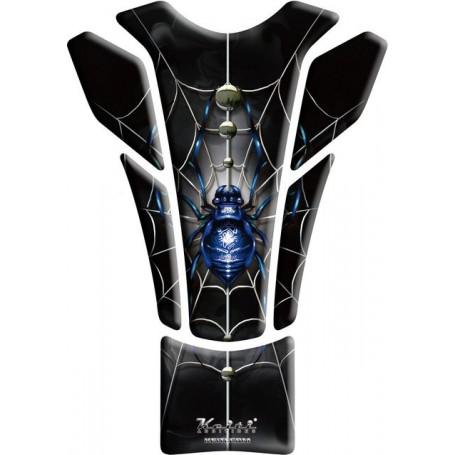 Protège réservoir moto 3D Keiti® Araignée bleue KT8500B