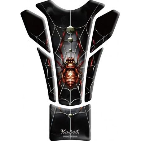 Protège réservoir moto 3D Keiti® Araignée rouge KT8500R