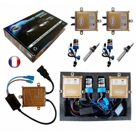 Kit HID Xénon Vega® H1 55W slim DSP AC 2 ampoules à embase métallique - Garantie à vie