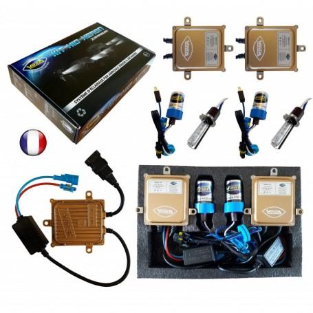 Kit HID Xénon Vega® H3 55W slim DSP AC 2 ampoules à embase métallique - Garantie à vie
