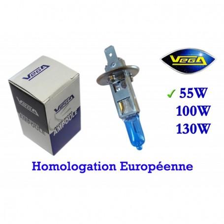 Ampoule Vega® Xénon Daylight H1 P14.5s homologuée 55W 12V