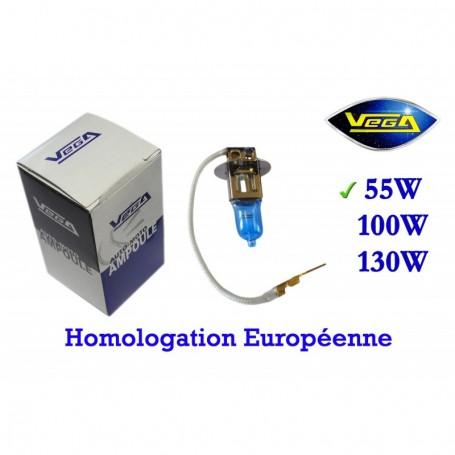 Ampoule Vega® Xénon Daylight H3 PK22s homologuée 55W 12V