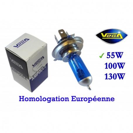 Ampoule Vega® Xénon Daylight H4 P43t homologuée 60W/55W 12V