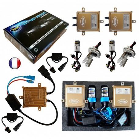 Kit HID Xénon Vega® H4LO 55W Canbus ODB 2 ampoules à embase métallique - Garantie à vie
