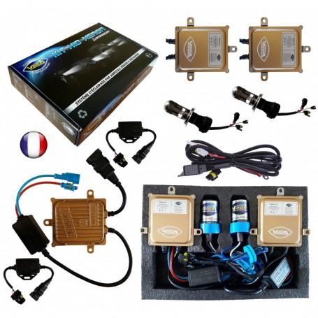 Kit HID Xénon Vega® H4 Hi/Lo bi-xénon 55W Canbus ODB 2 ampoules à embase métallique - Garantie à vie