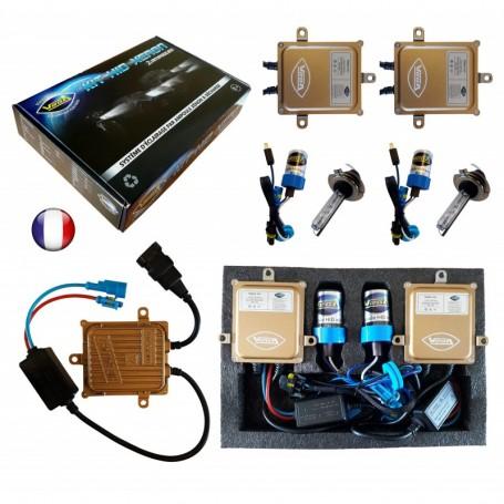 Kit HID Xénon Vega® H7 55W slim DSP AC 2 ampoules à embase métallique - Garantie à vie