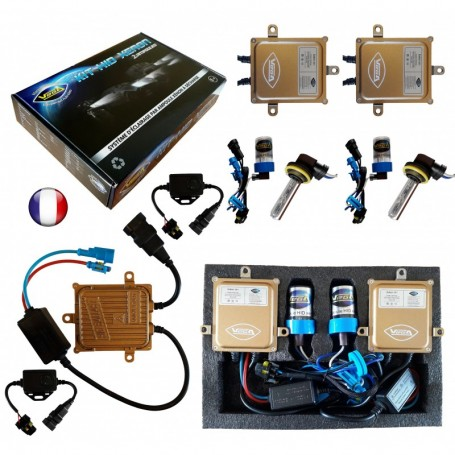 Kit HID Xénon Vega® H9 55W Canbus ODB 2 ampoules à embase coudée - Garantie à vie