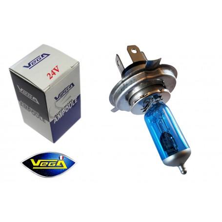 Ampoule Vega® Effet Xénon Daylight H4 P43t homologuée 75W/70W 24V