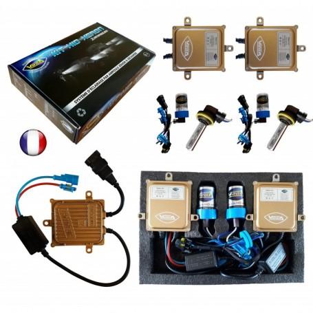 Kit HID Xénon Vega® H9 55W slim DSP AC 2 ampoules à embase coudée - Garantie à vie