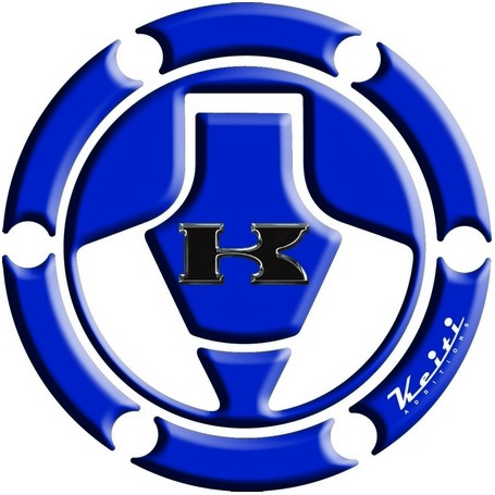 Protège capuchon de réservoir moto 3D Keiti® Bleu Kawasaki 06-