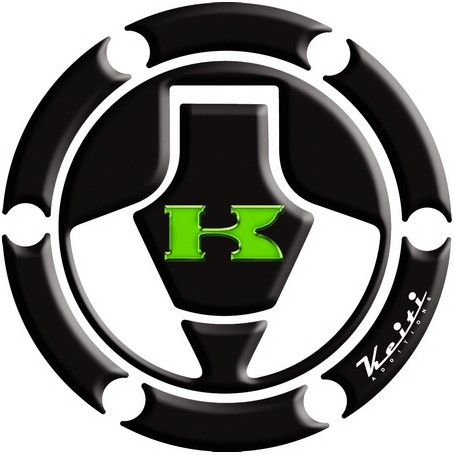 Protège capuchon de réservoir moto 3D Keiti® Noir Kawasaki 06-