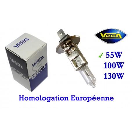 Ampoule Vega® halogène Maxi H1 P14.5s homologuée 55W 12V