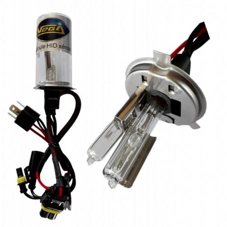 Ampoule HID Xénon Vega® H4LO 55W à embase métallique