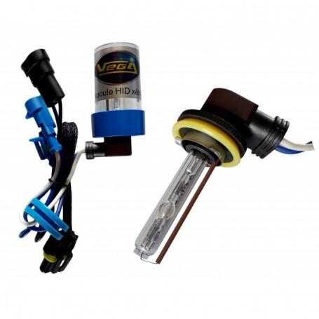 Ampoule HID Xénon Vega® H9 55W à embase coudée