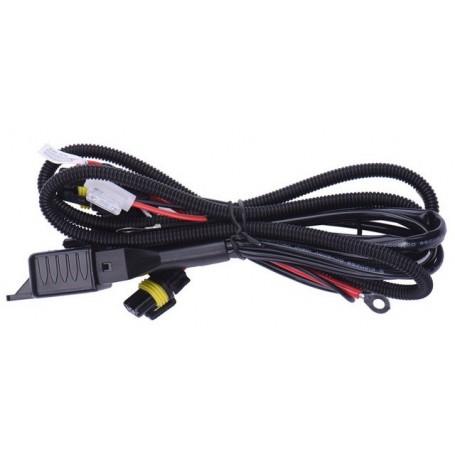 Cable relais pour 2 ampoules Bi-Xénon H4 Hi/lo 35W 55W 12V