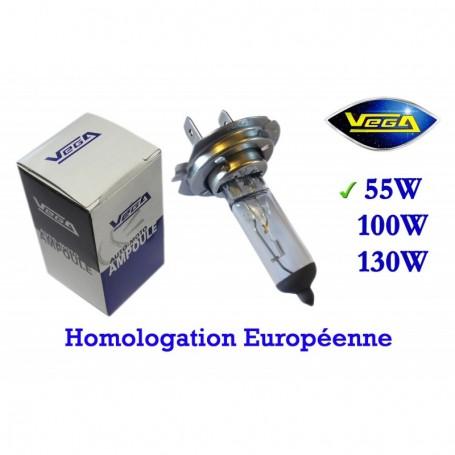 Ampoule Vega® halogène Maxi H7 PX26d homologuée 55W 12V