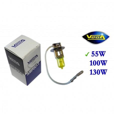 Ampoule Vega® jaune ancien H3 PK22s homologuée 55W 12V