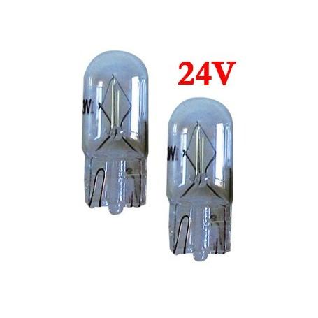 Ampoule Vega® W5W W2.1x9.5d T10 homologuée 5W 24V