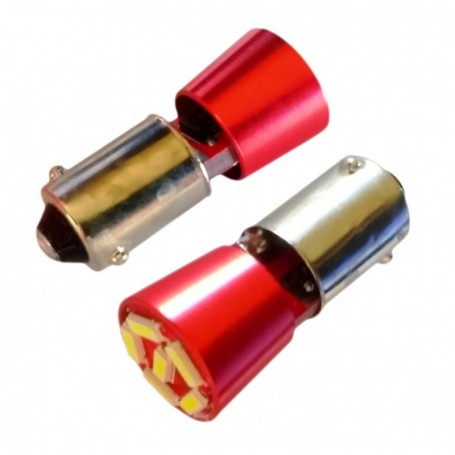 Ampoule BAX9S H6W 6 leds 4014SMD courte anti-erreur ODB Blanche xénon