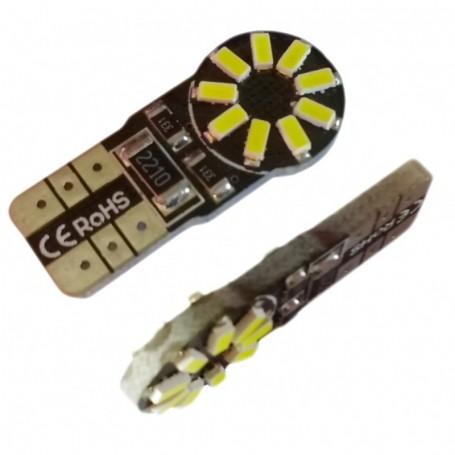 Ampoule T10 W5W 18 leds 3014SMD anti-erreur ODB Blanche xénon