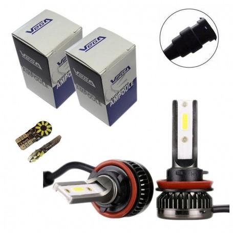 Kit Q3 Full leds COB 360° Vega® 2 ampoules H8 12V 24V
