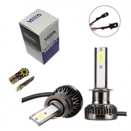 Kit Q3 Full leds COB 360° Vega® 1 ampoule H1 12V 24V