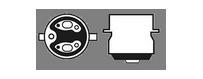 Ampoules S2 BA20D H6M halogènes Maxi Vega® 12V