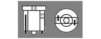 Ampoules à leds Vega® T5 W2×4.6d 2.3W