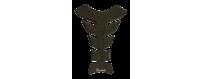 Protège réservoirs décoratifs protecteurs 3D pour motos Carbone